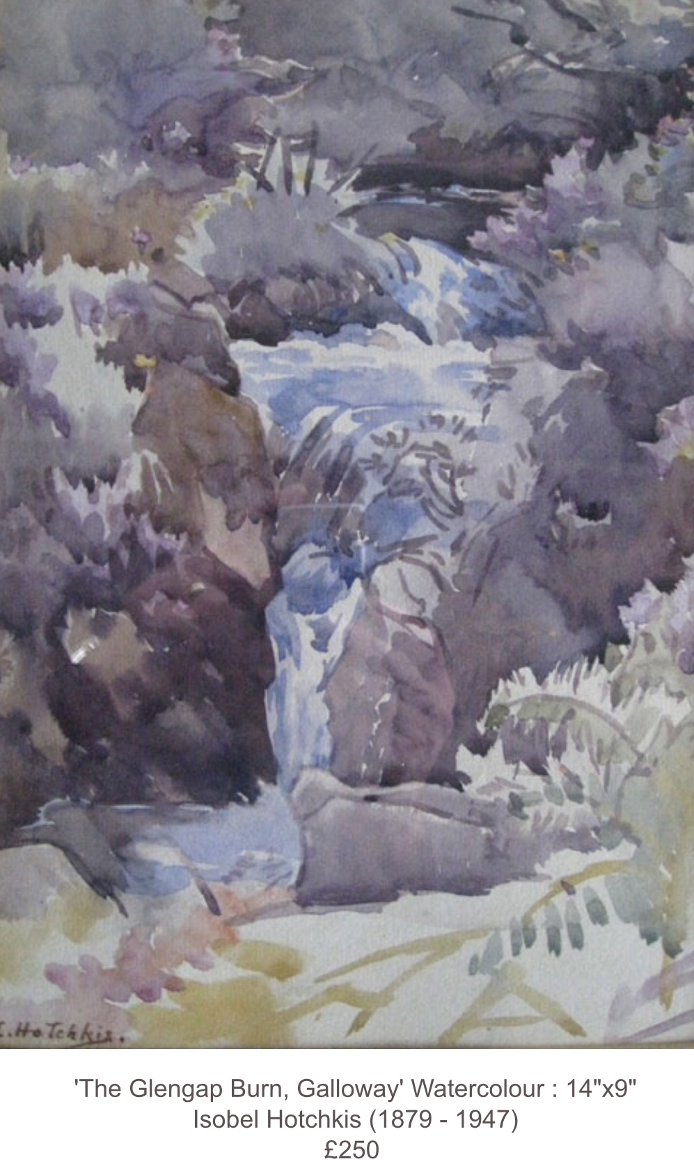 Isobel Hotchkis 'The Glengap Burn, Galloway'