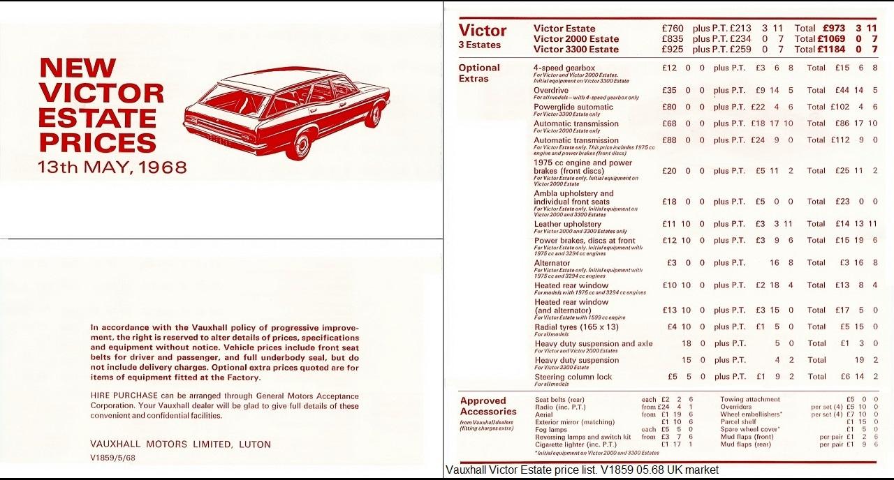 Vauxhall Fd 94000 Victor Vx490 Ventora Brochures