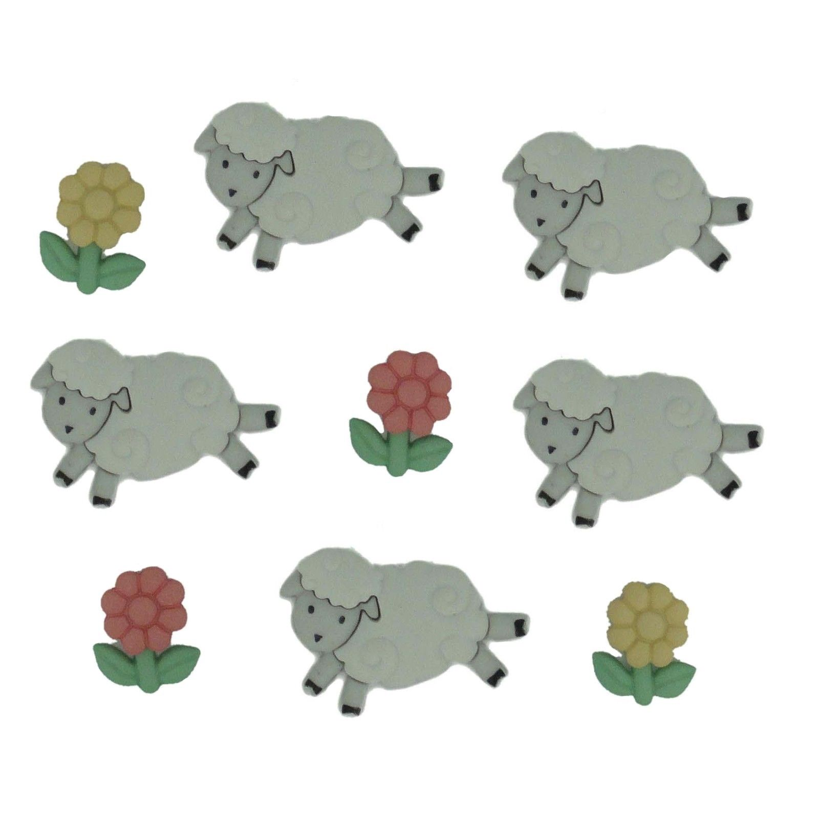 Buttons/Embellishments - Counting Sheep