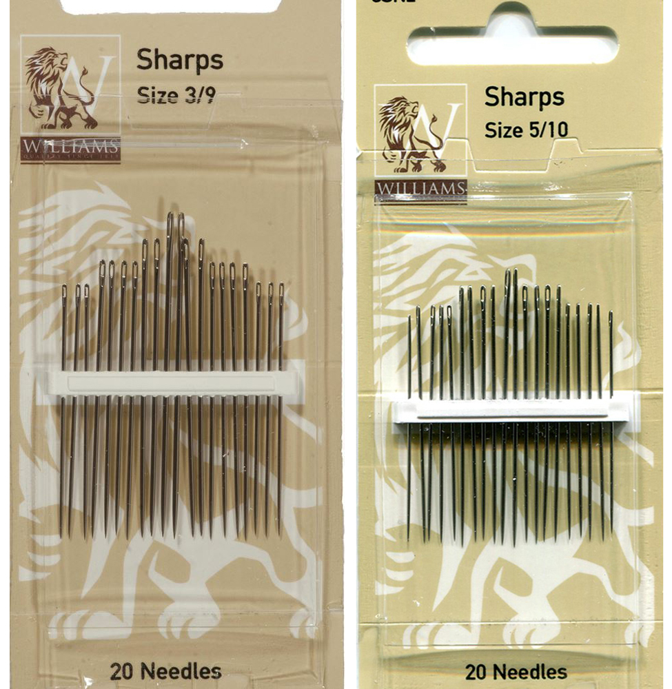 Williams Hand Sewing Needles, Sharps, Pack of 20