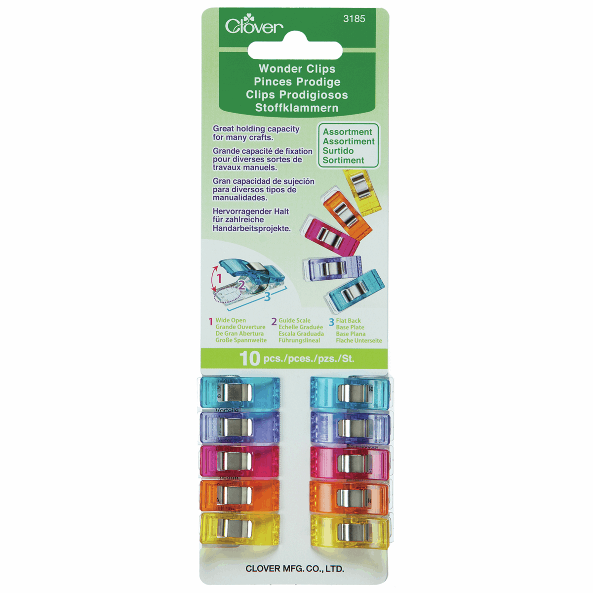 Clover Wonder Clips, Pack of 10