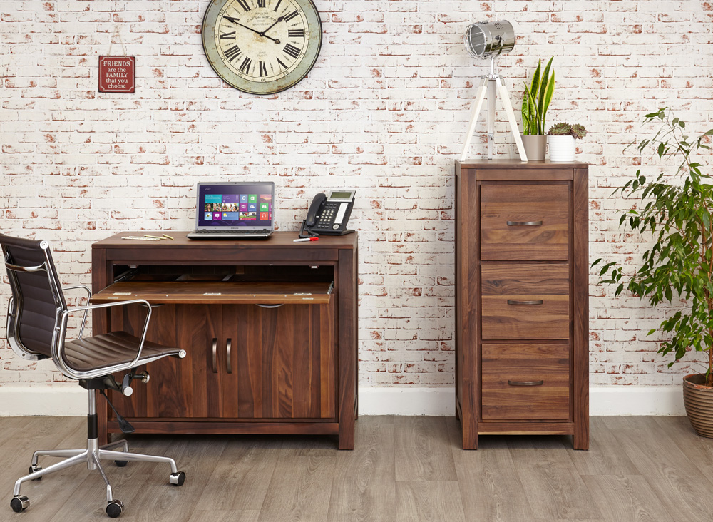 MAYAN - WALNUT HIDDEN HOME OFFICE