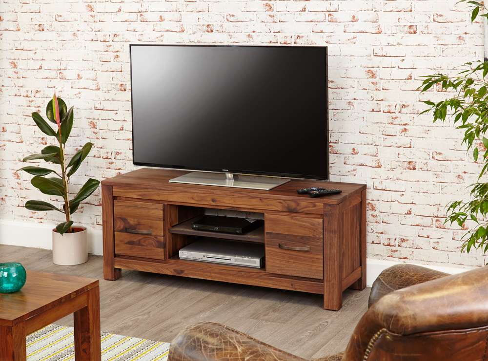 MAYAN - WALNUT LOW TELEVISION CABINET