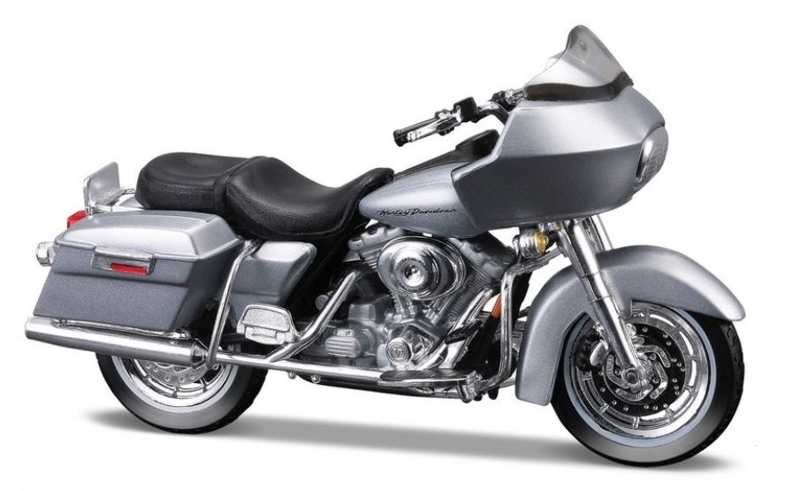 2002 HARLEY DAVIDSON FLTR ROAD GLIDE - 1:18 Die-cast Motorbike Model by Maisto Series 28