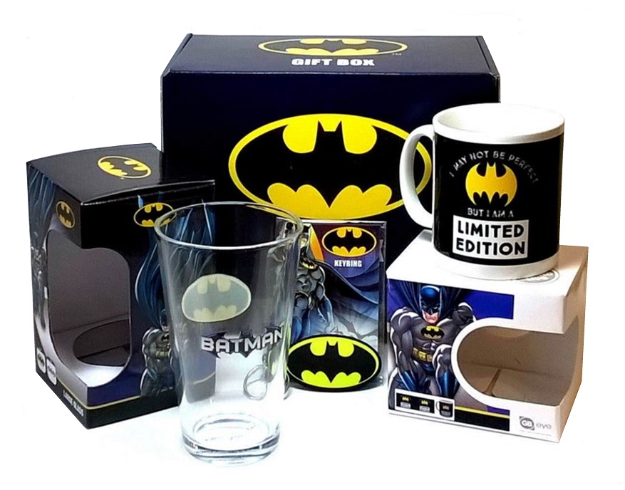 BATMAN LIMITED EDITION GIFT BOX - DC Comics Gift Set - Glass, Mug and Keyring
