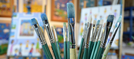 Brian Pollard paint brushes