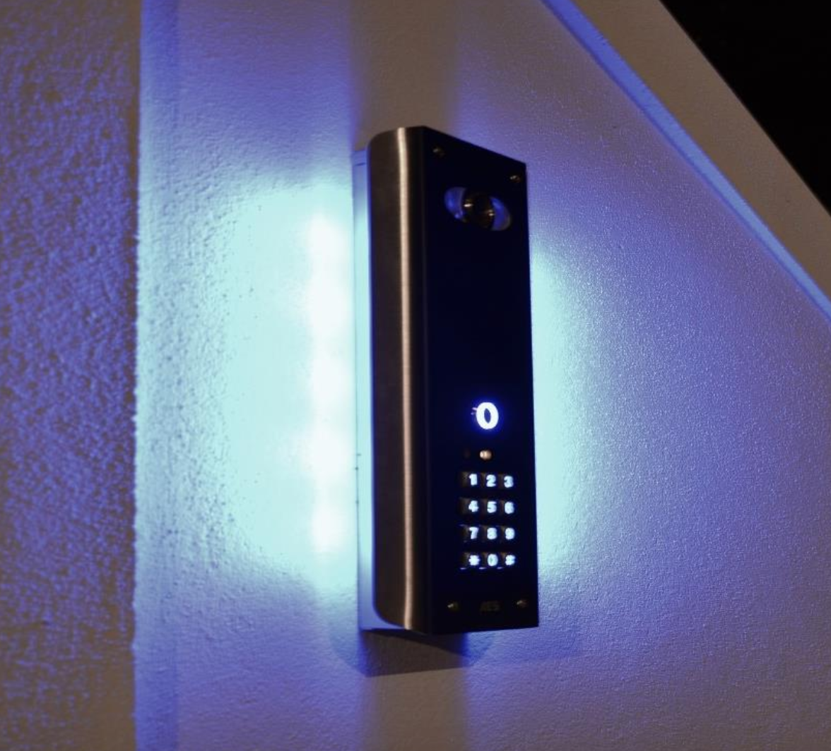 Image desES INTERCOM WITH BLUE BACK LIGHT AND KEYPAD