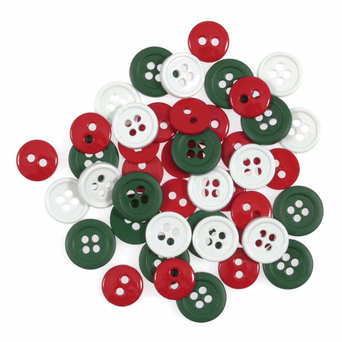 Button Assortments - Round, 12mm and 15mm, Pk of 125 approx