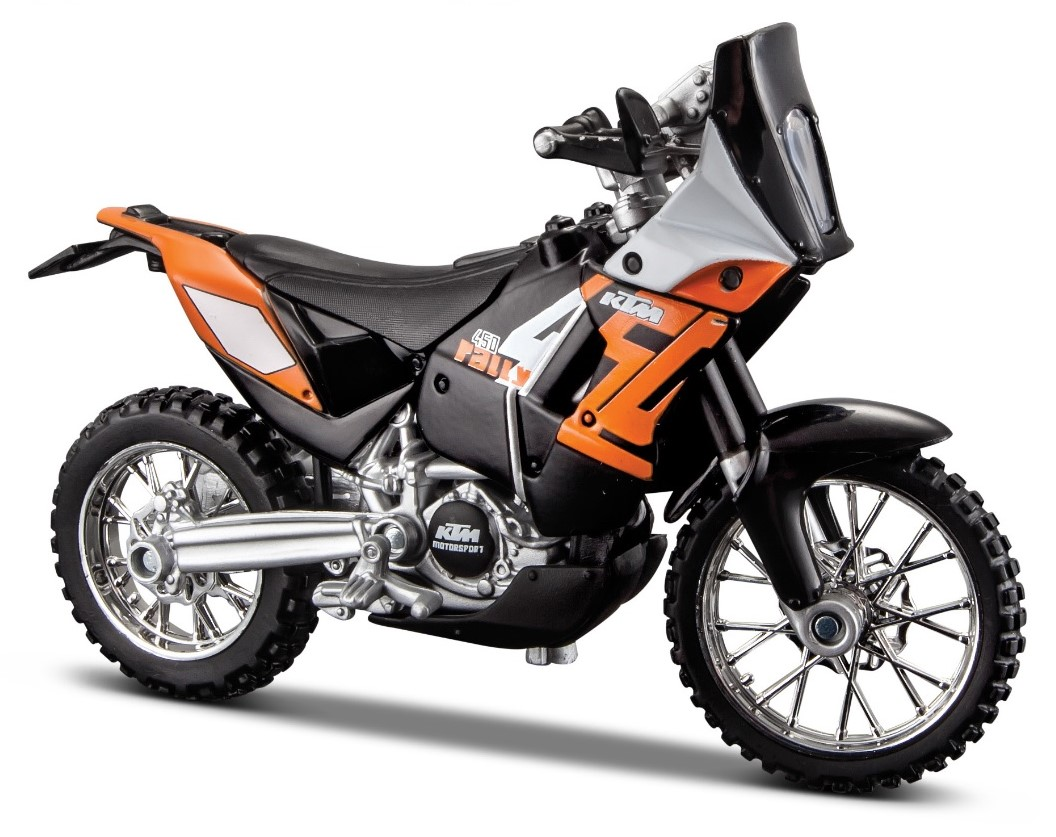 KTM 450 Rally - 1:18 Die-cast Motorbike Model by Maisto