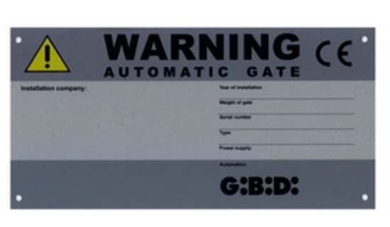 Gibidi CE Identification warning