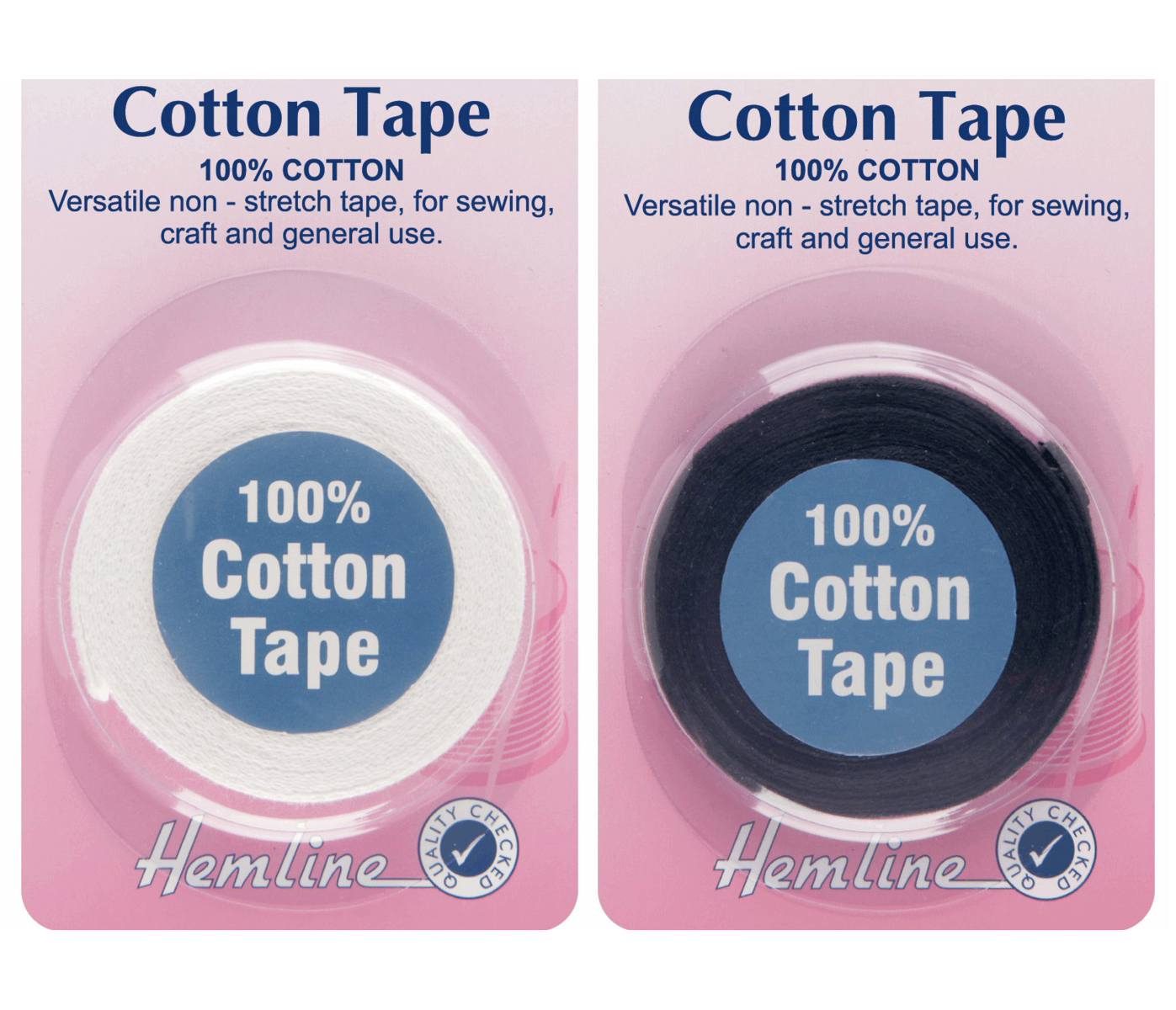 Hemline 100% Cotton Tape, 5m