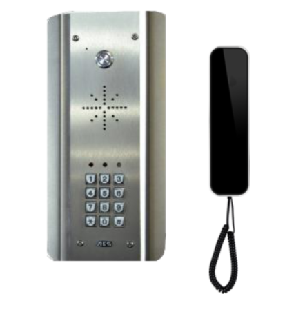 AES 302 CL-ASK wired intercom WITH KEY PAD