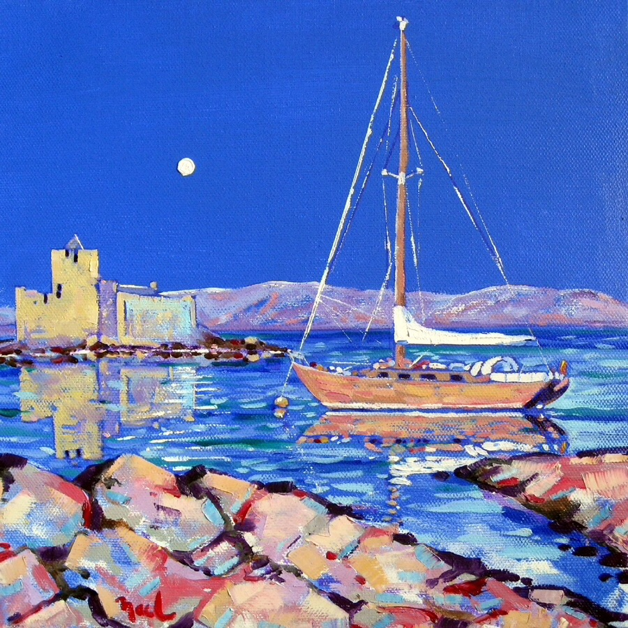 'Moonlight Castlebay, Barra'. John Leitch