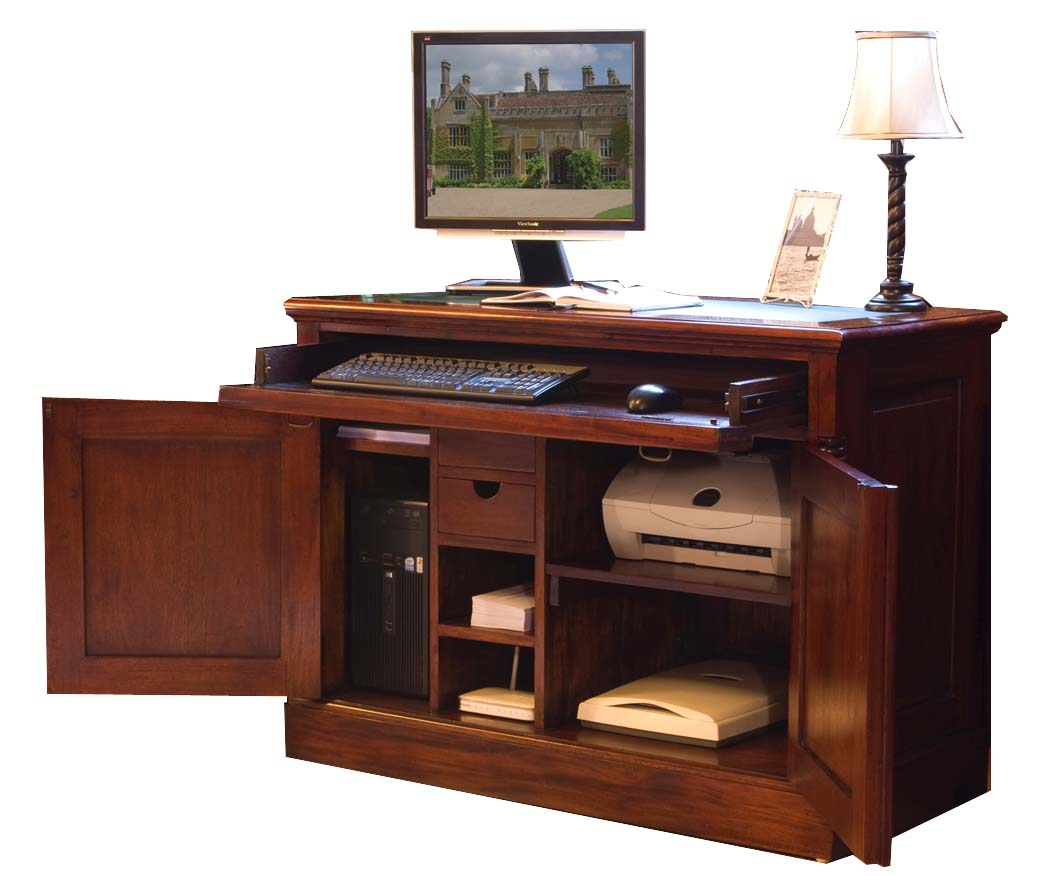 LA ROQUE - MAHOGANY HIDDEN HOME OFFICE