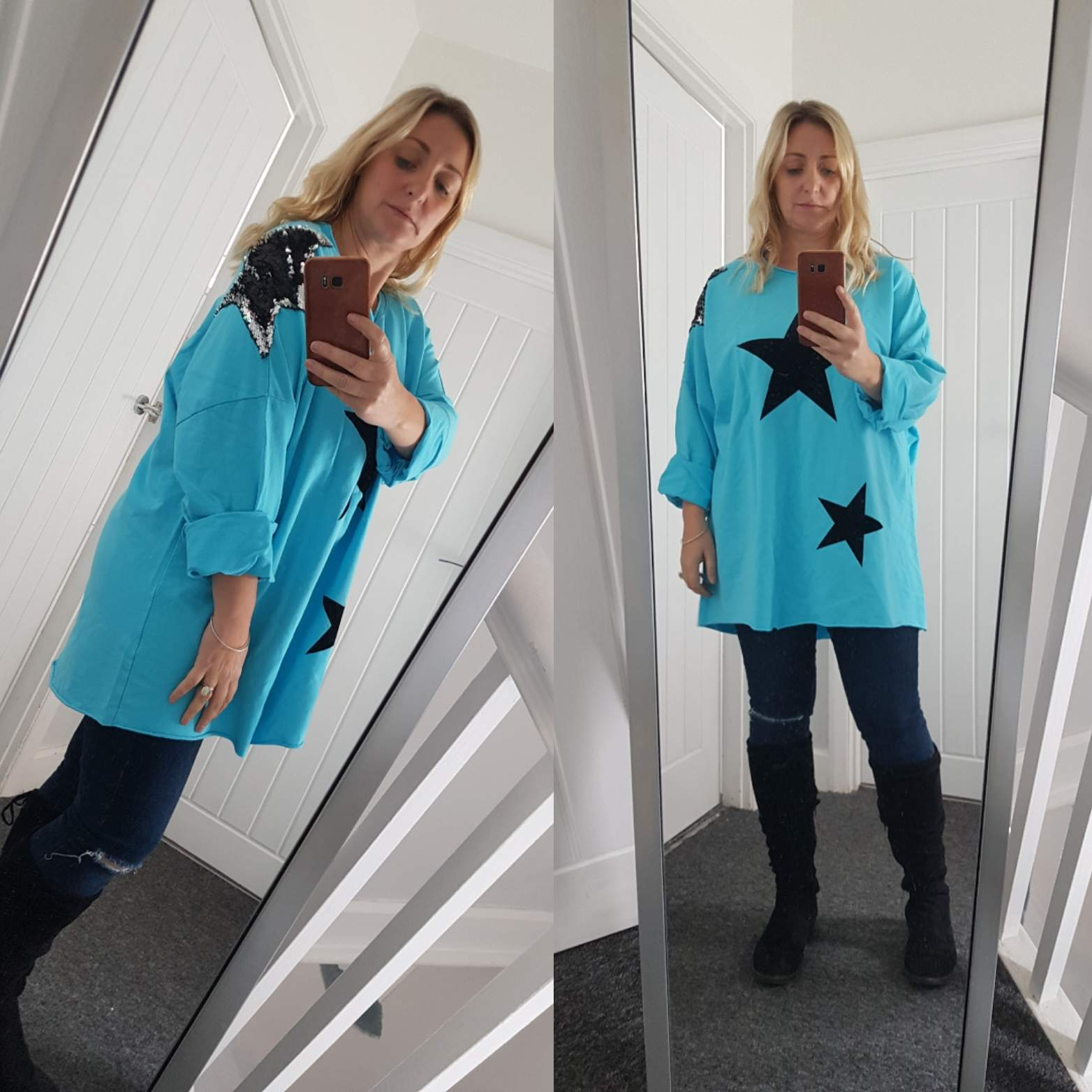 Velvet and Sequin Star Top