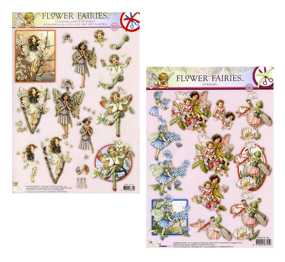 Die Cut A4 Decoupage Sheets - Flower Fairies #101 & #180