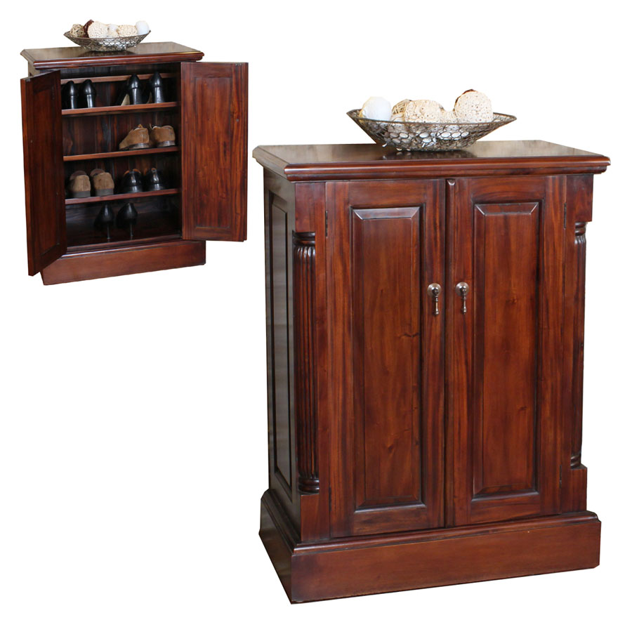 LA ROQUE - MAHOGANY SHOE STORAGE CUPBOARD