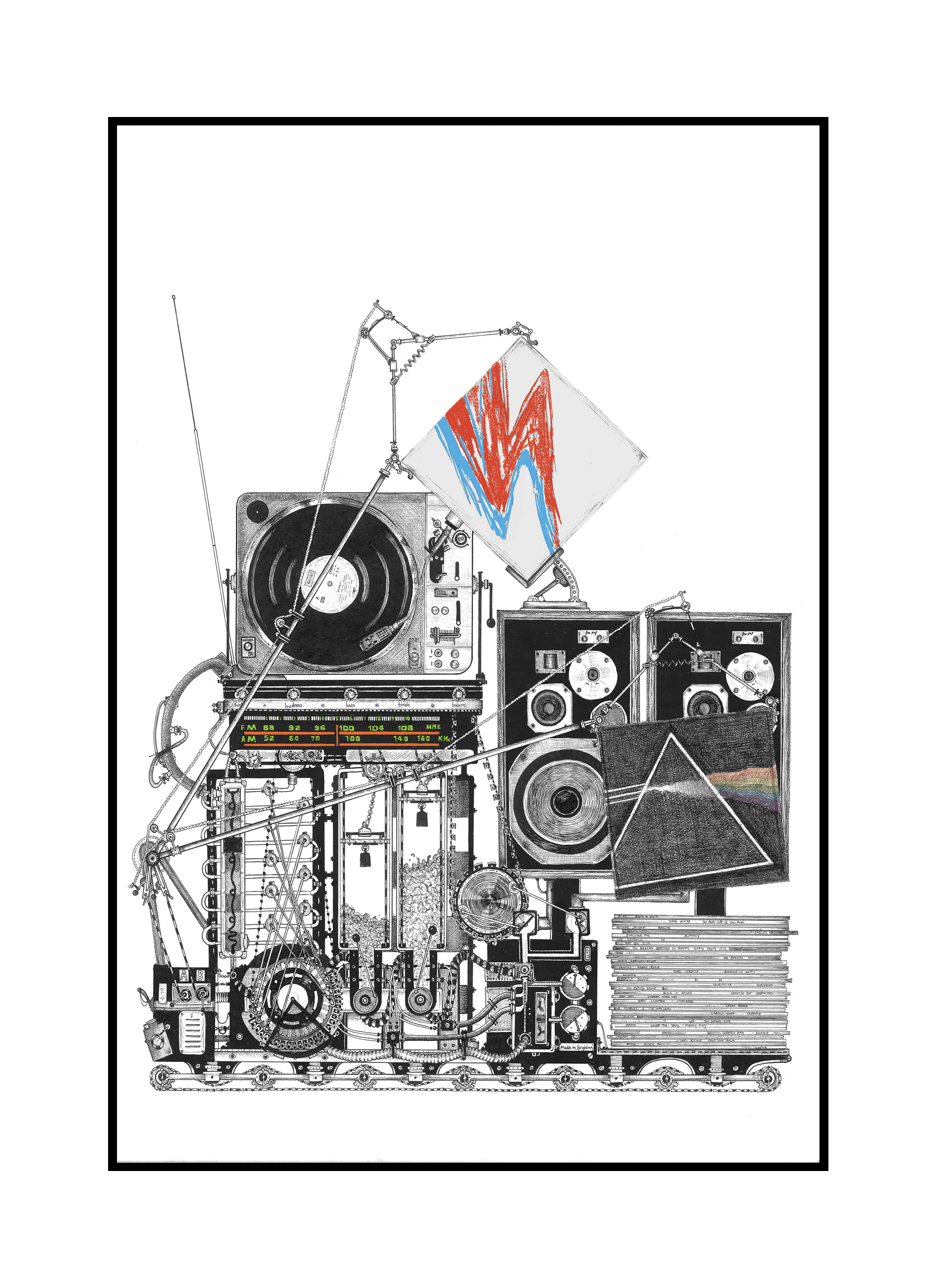 'Mobile Disco' Limited Edition Print