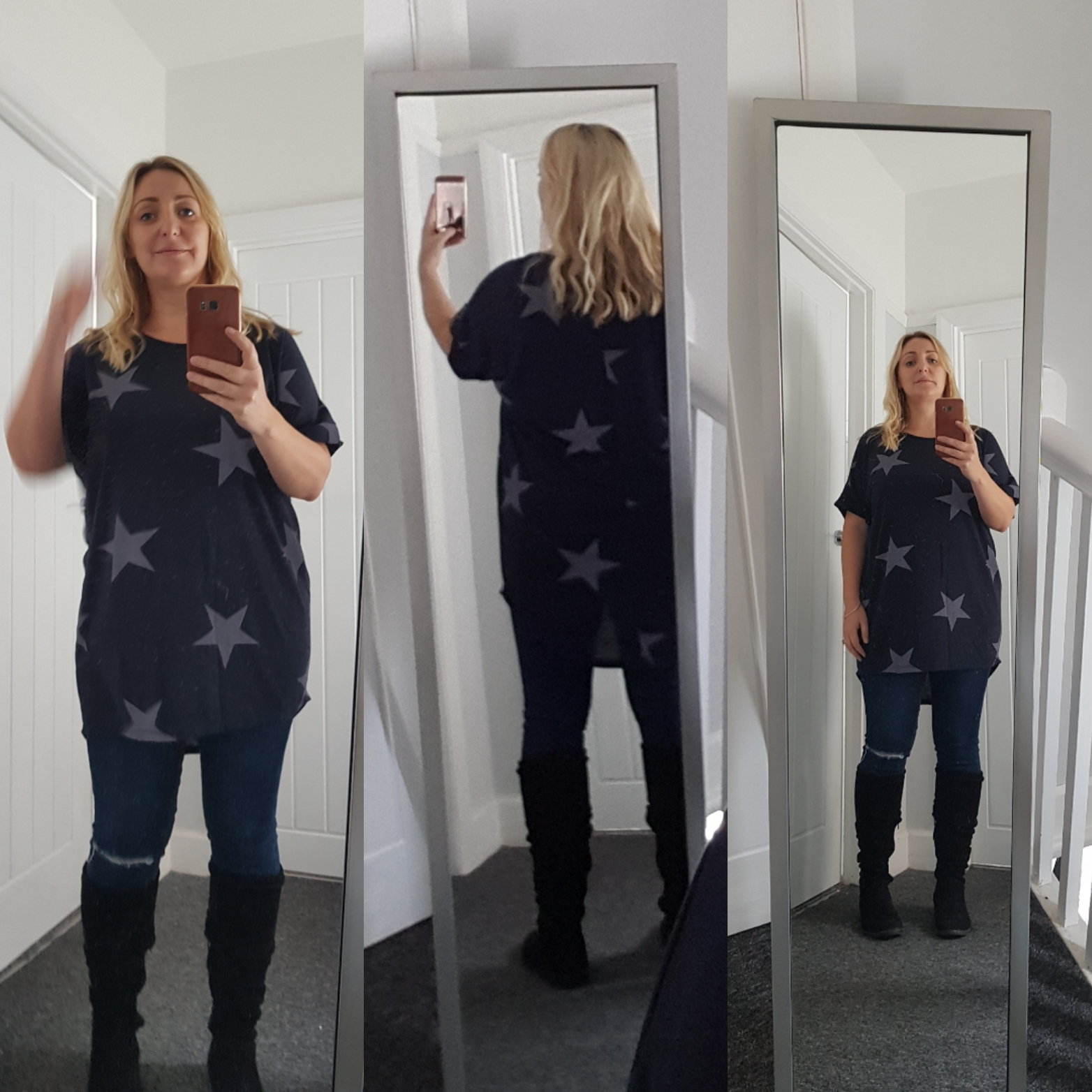 Slouchy Star Top