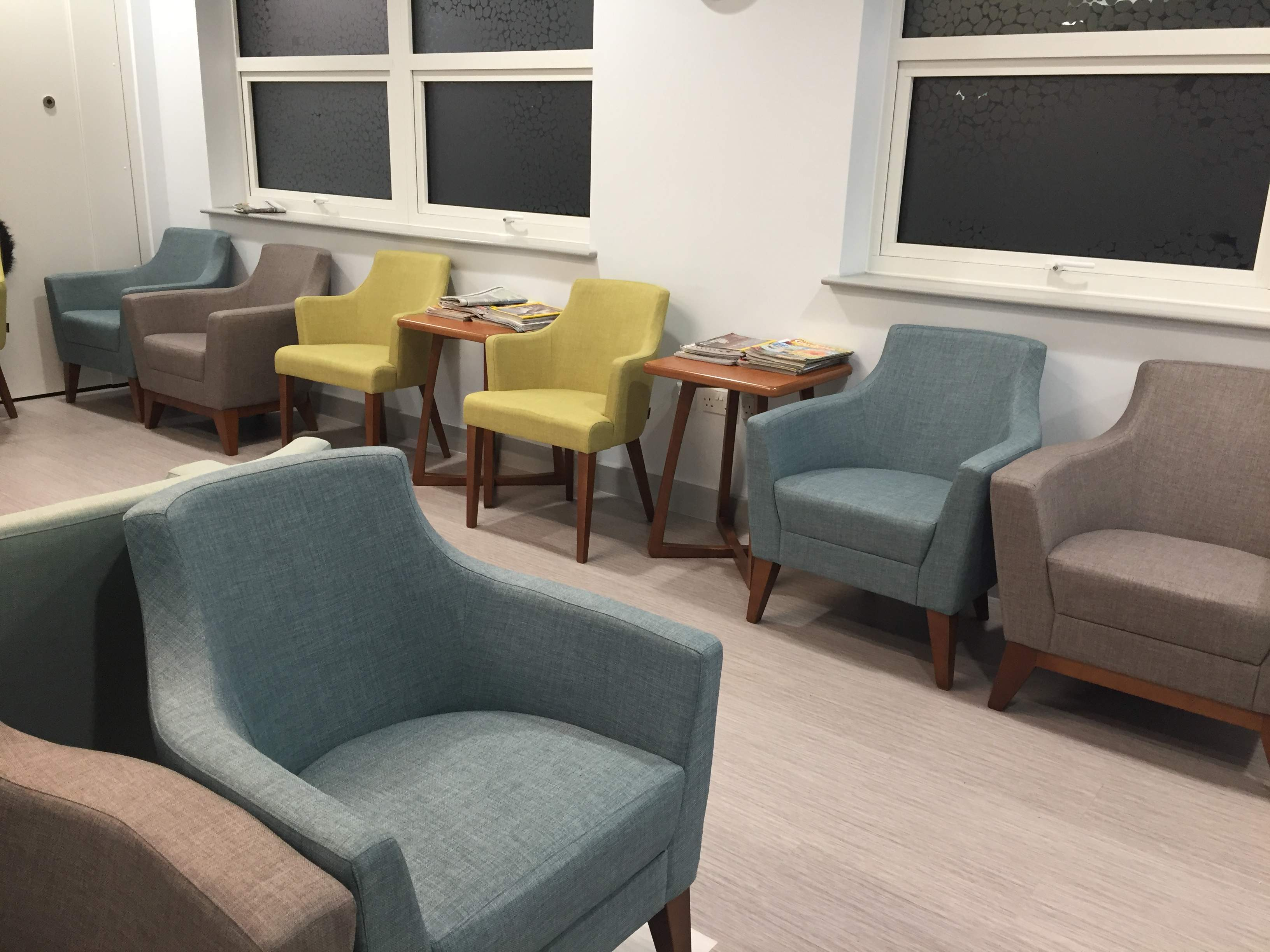Furniture in radiotherapy reception