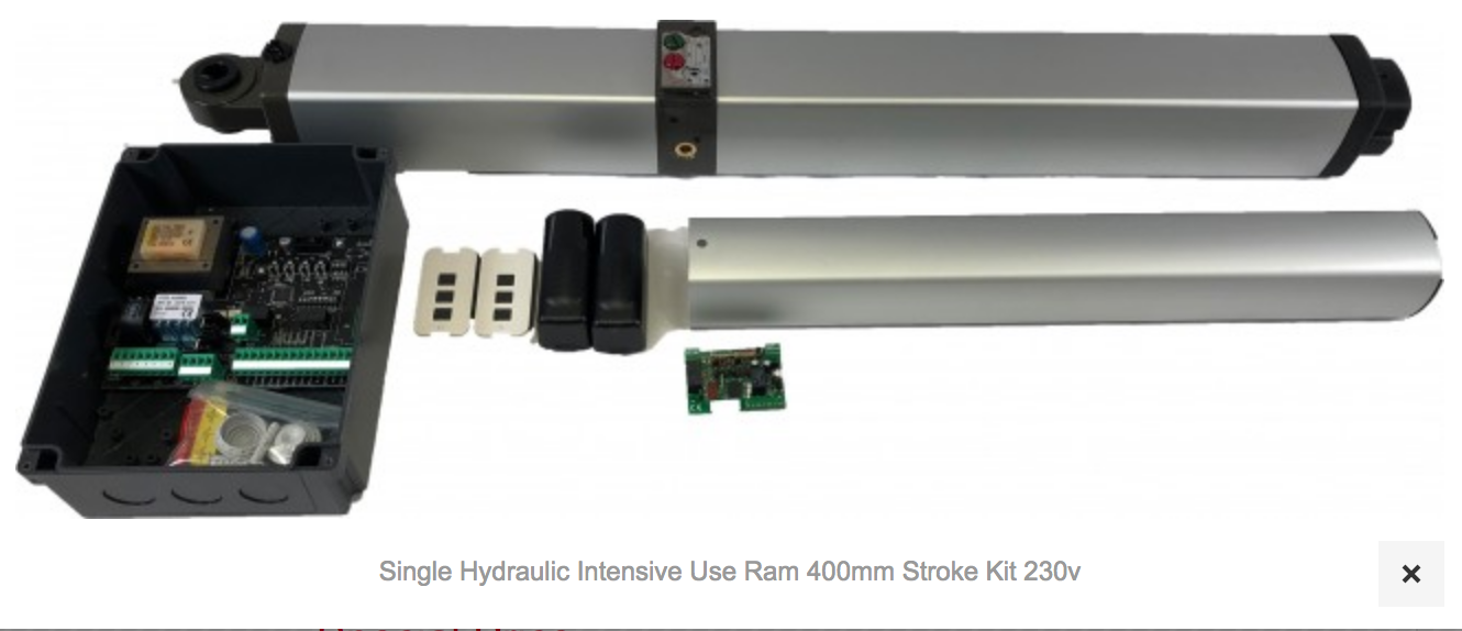 1 X AT700 Single Hydom Hydraulic Intensive Use Ram 400mm Stroke Kit 230v