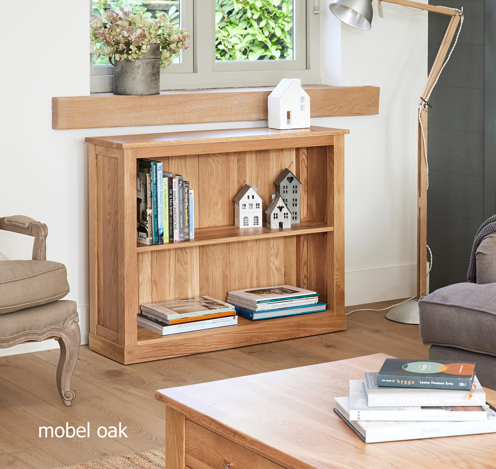 MOBEL - OAK LOW BOOKCASE