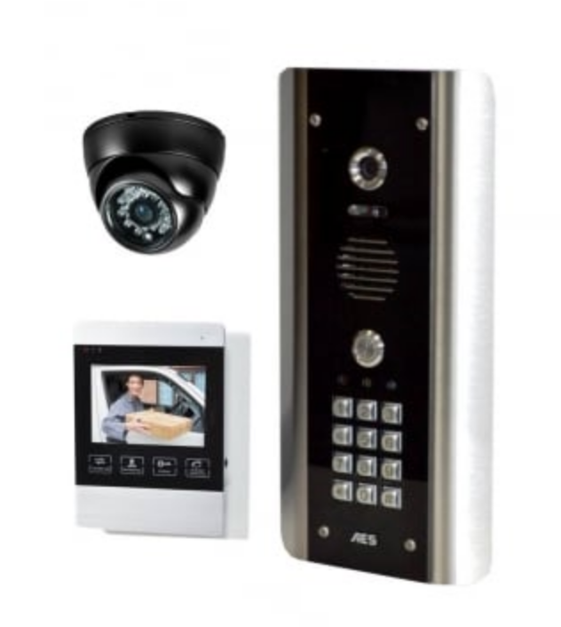 AES STYLUSCOM-ABK1+1 Hardwired Video Intercom With Keypad Inc 1 Video Monitor & 1 CAMERA