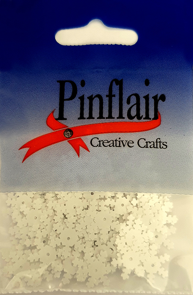 Pinflair Snowflake Sequins, 13mm, pack of approx 3g