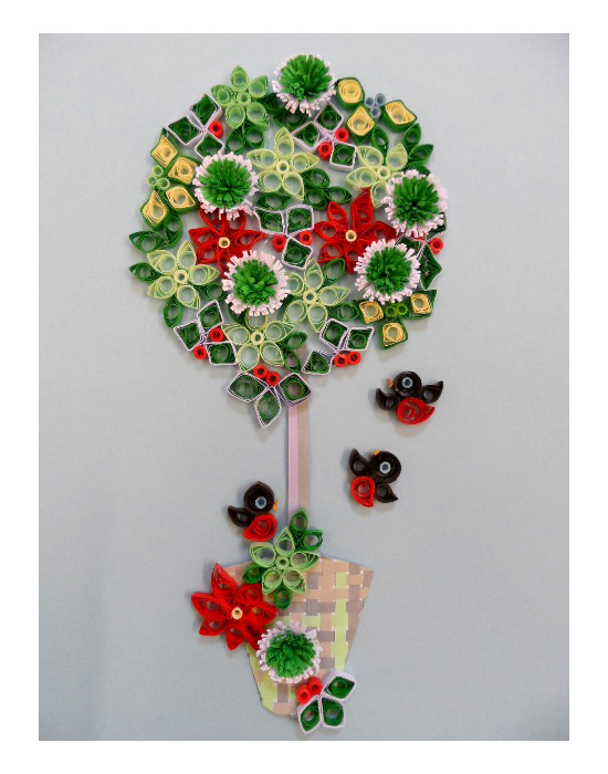 Quilling Kit - Quill a Winter Bay Tree