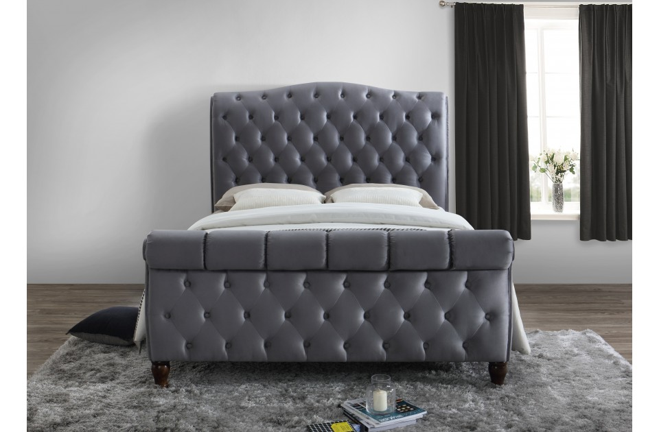 COLORADO GREY FABRIC BED KING SIZE