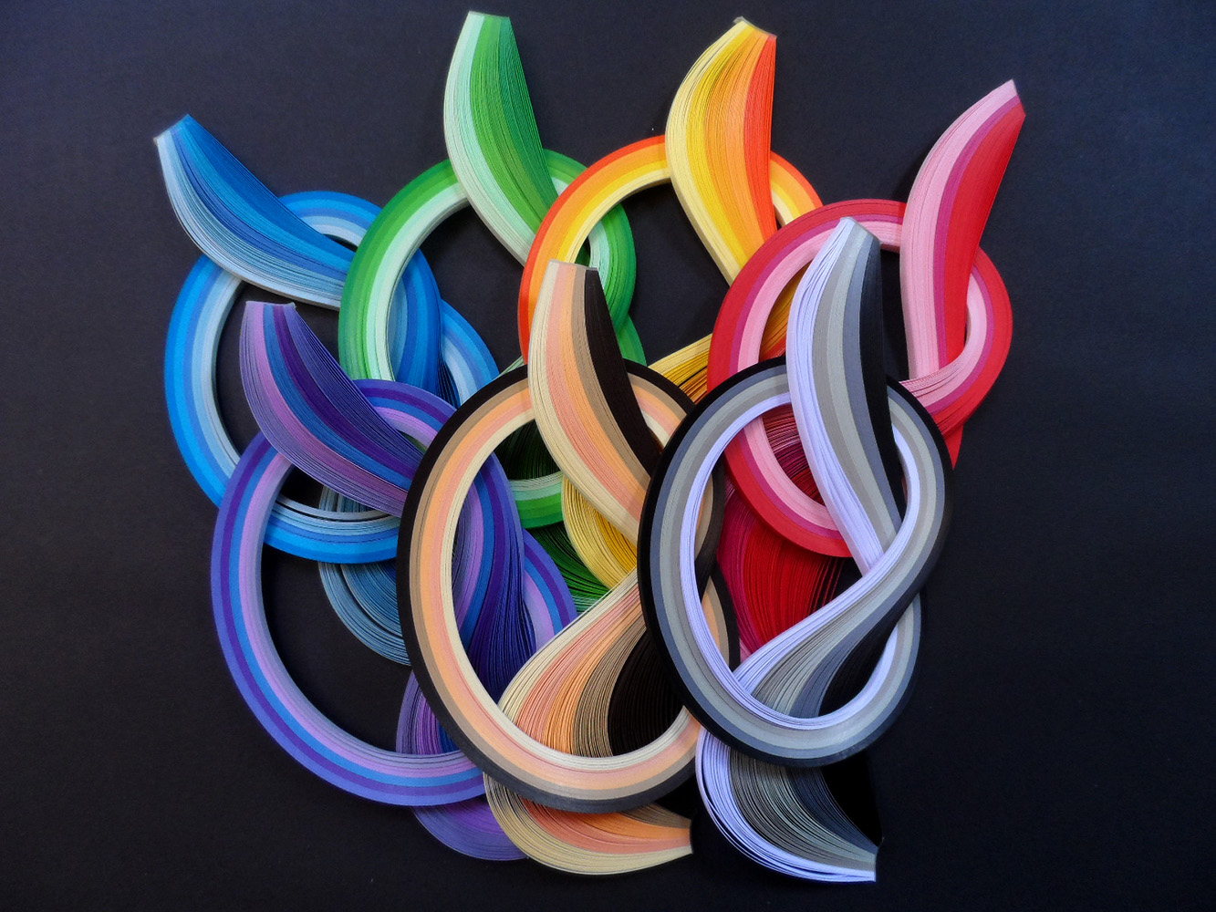 Quilling papers 5mm, Colour Toned Bundles