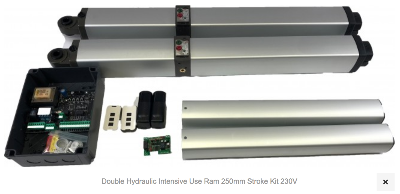 1 X AT660 Double Hydraulic Intensive Use Ram 250mm Stroke Kit 230V