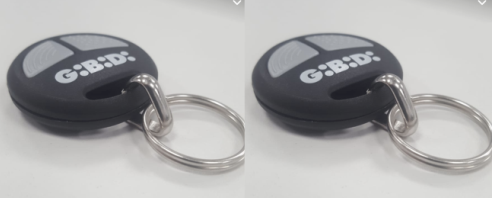2 X Gibidi new round 2 button remote fob AUD4500