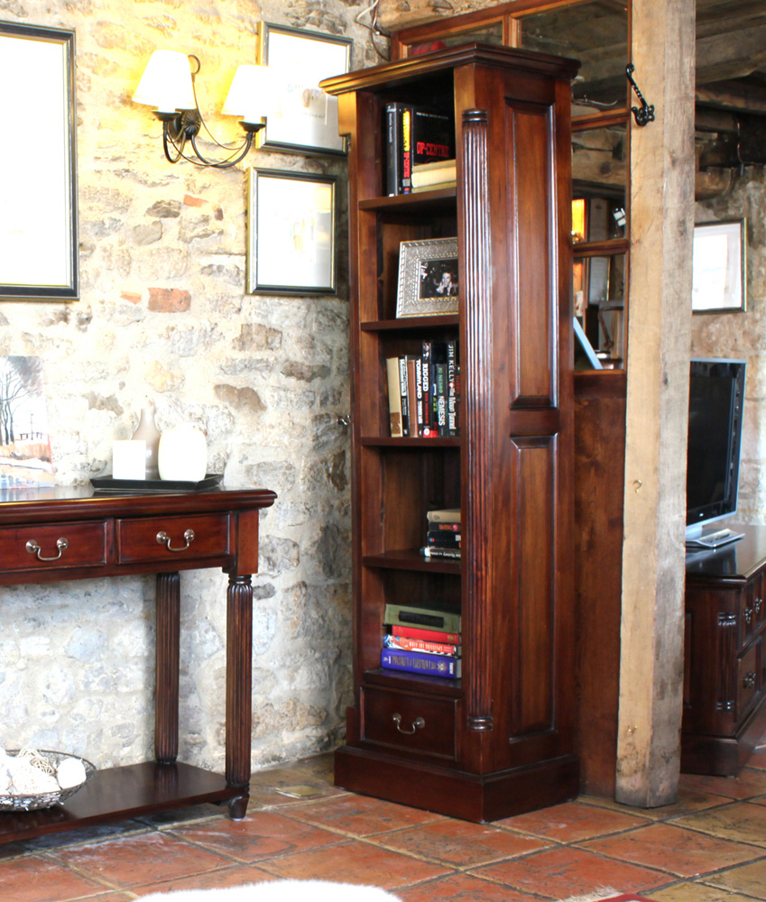 LA ROQUE - MAHOGANY NARROW ALCOVE BOOKCASE