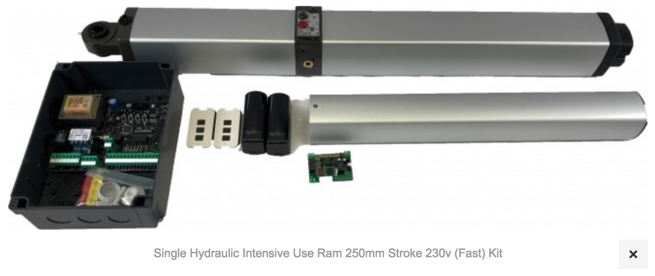 1 X AT1400 Single Hydom Hydraulic Intensive Use Ram 250mm Stroke 230v (Fast) Kit