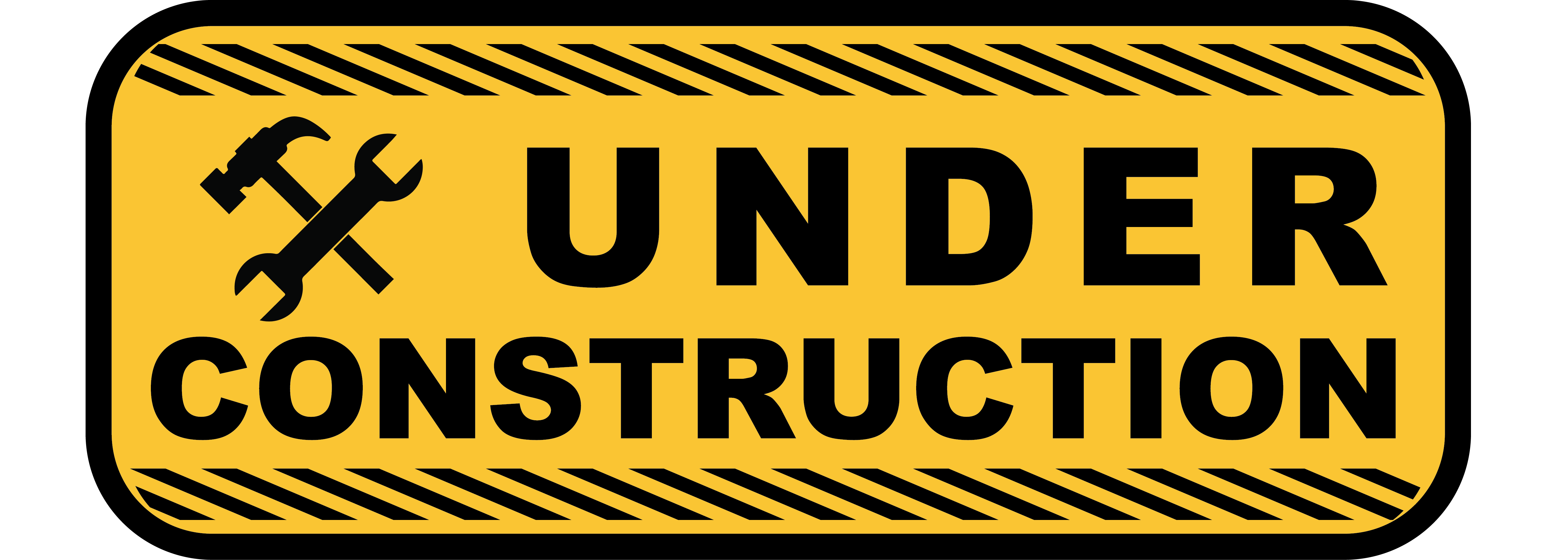 "Image of a sign that reads ""Under Construction"". The sign is to let visitors of the webpage know this page is still not complete."