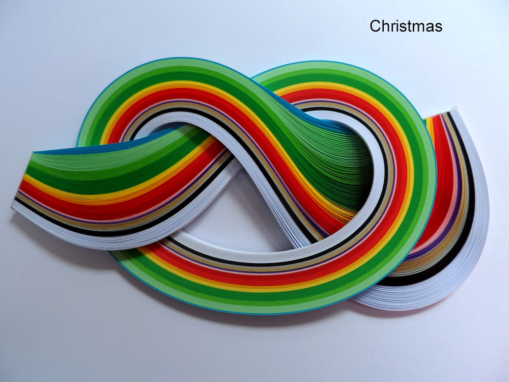 Quilling papers 2mm, Mixed Colour Bundles