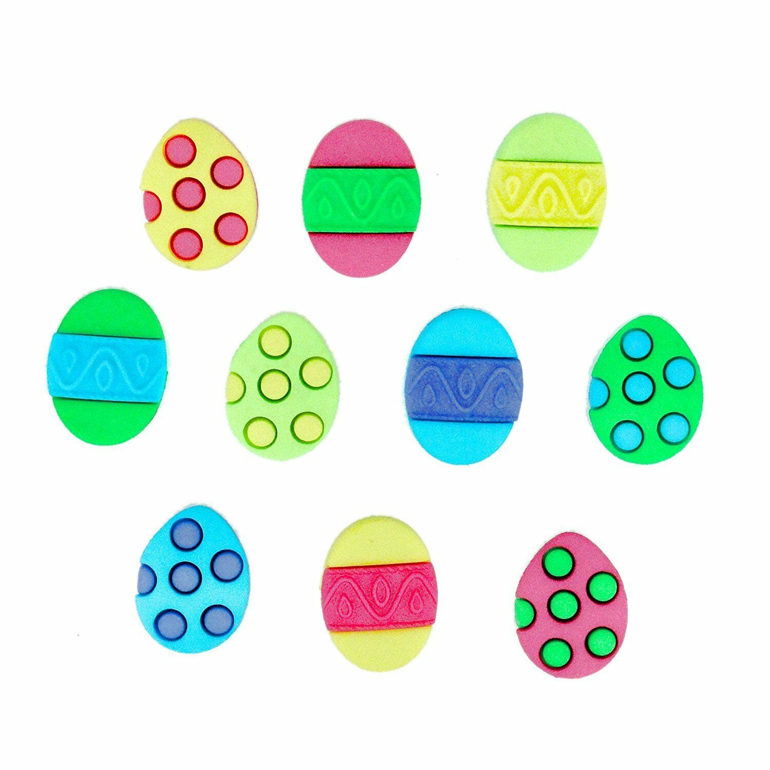 Buttons/Embellishments - Painted Easter Eggs