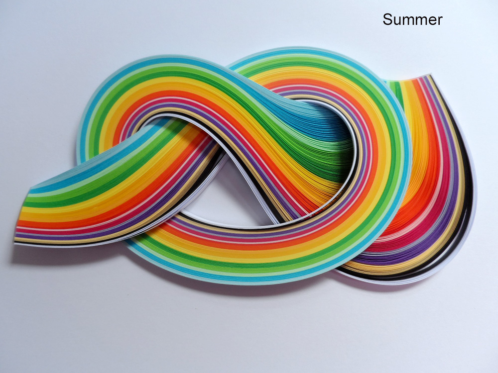 Quilling Papers 5mm, Mixed Colour Bundles