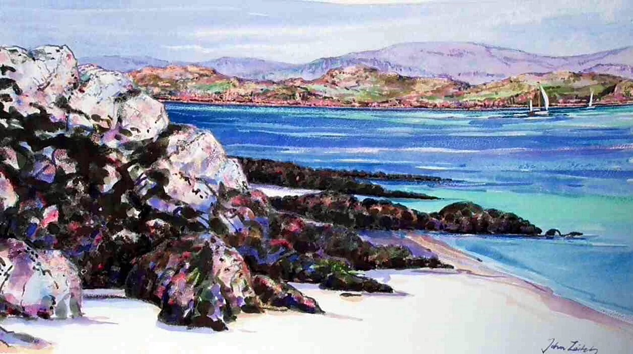 John Leitch 'Yachts in the Sound, Iona'