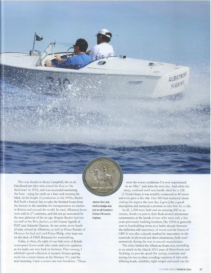albatross classic boat