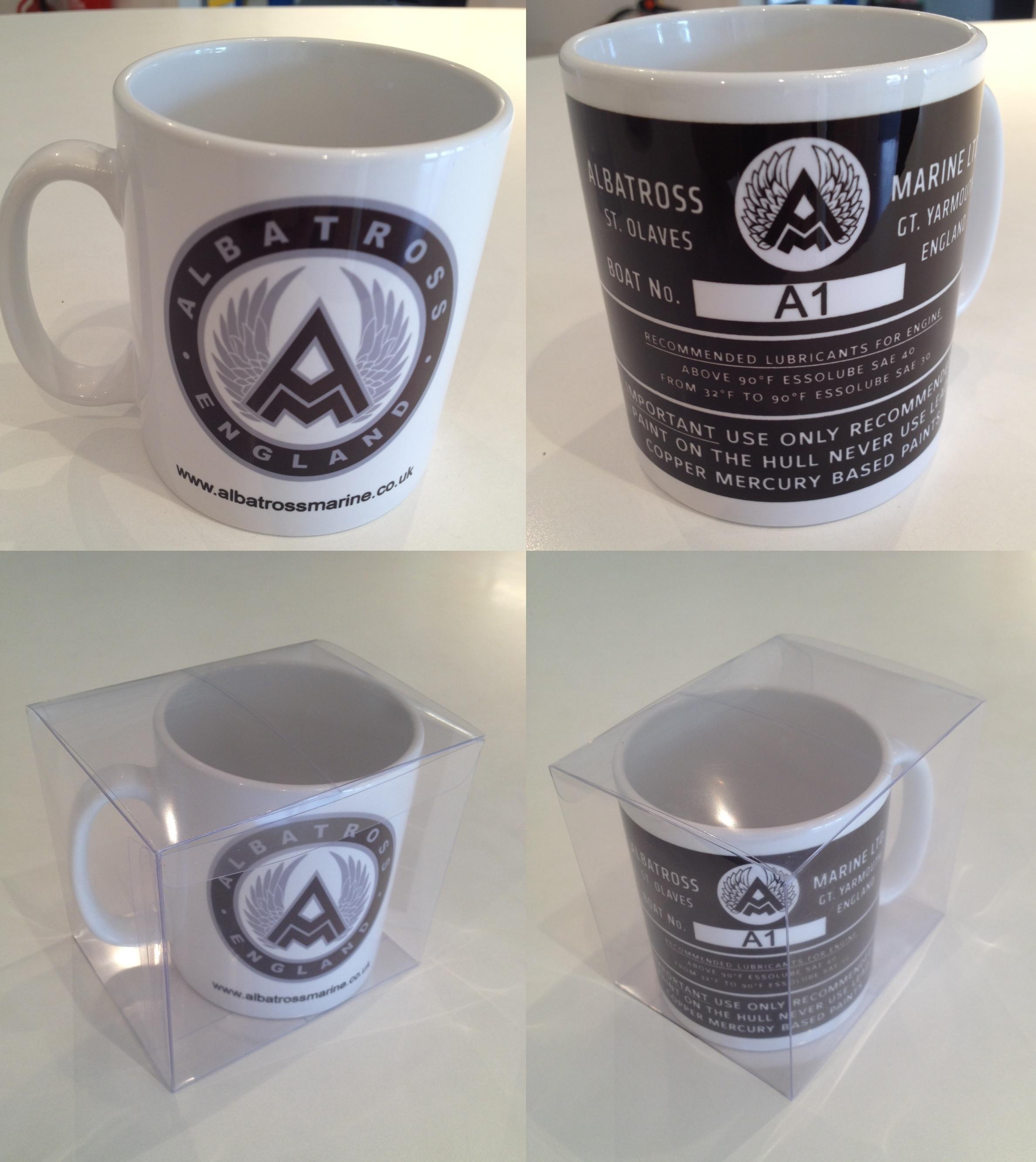 albatross vin plate mug