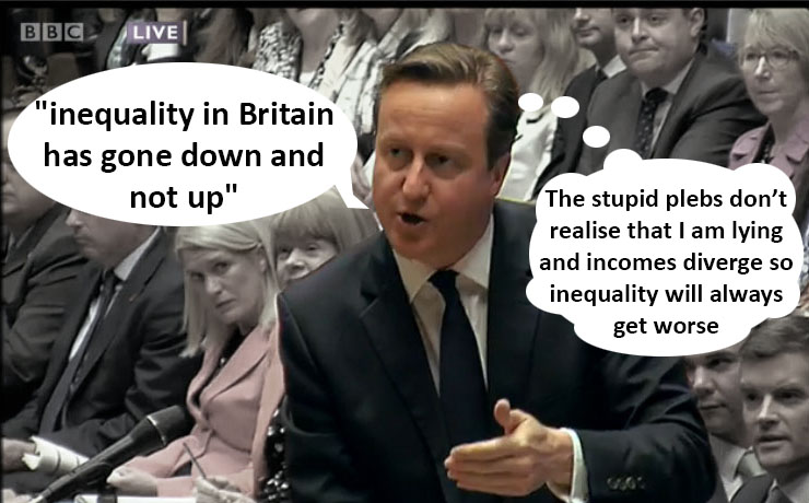 Cameron lying about inequality