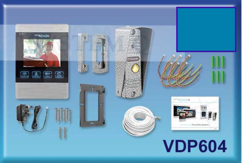 1 x DoorKnox Single Camera Traditional Video Door Entry Kit VDP604