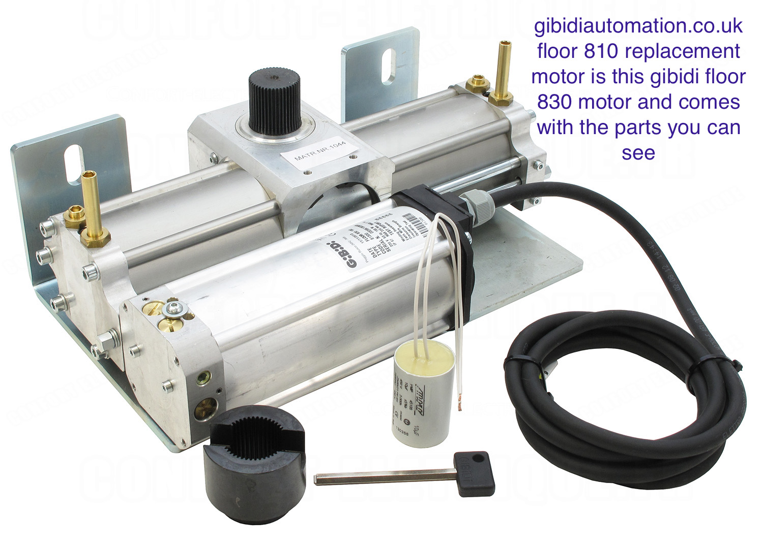 gibidi 830 motor REPLACES FLOOR 810 BAC MOTOR