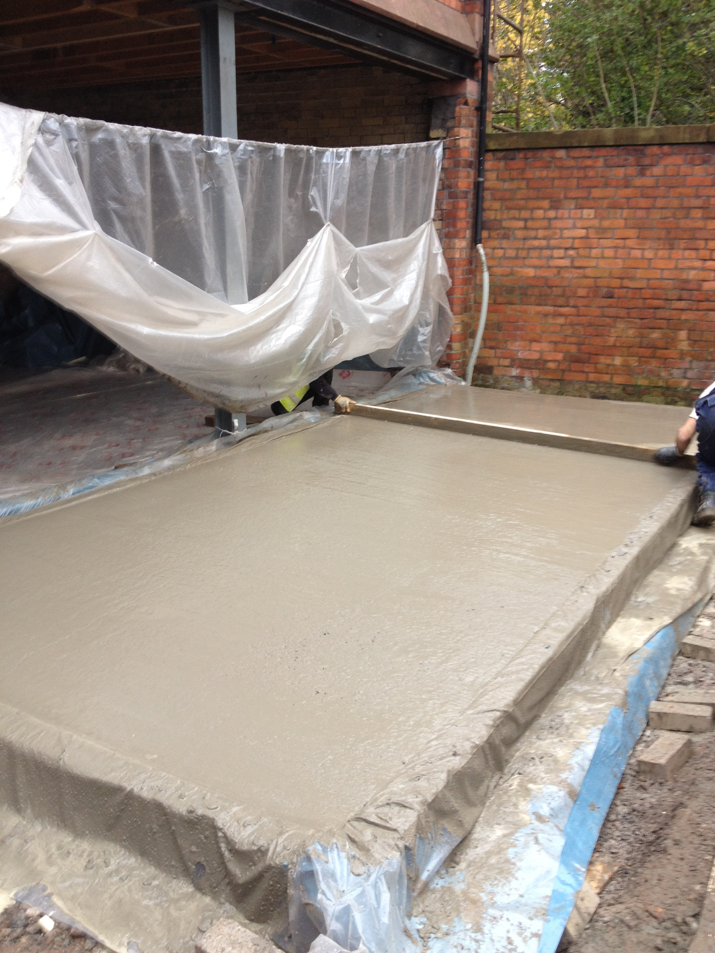 Casting New Floor Slab
