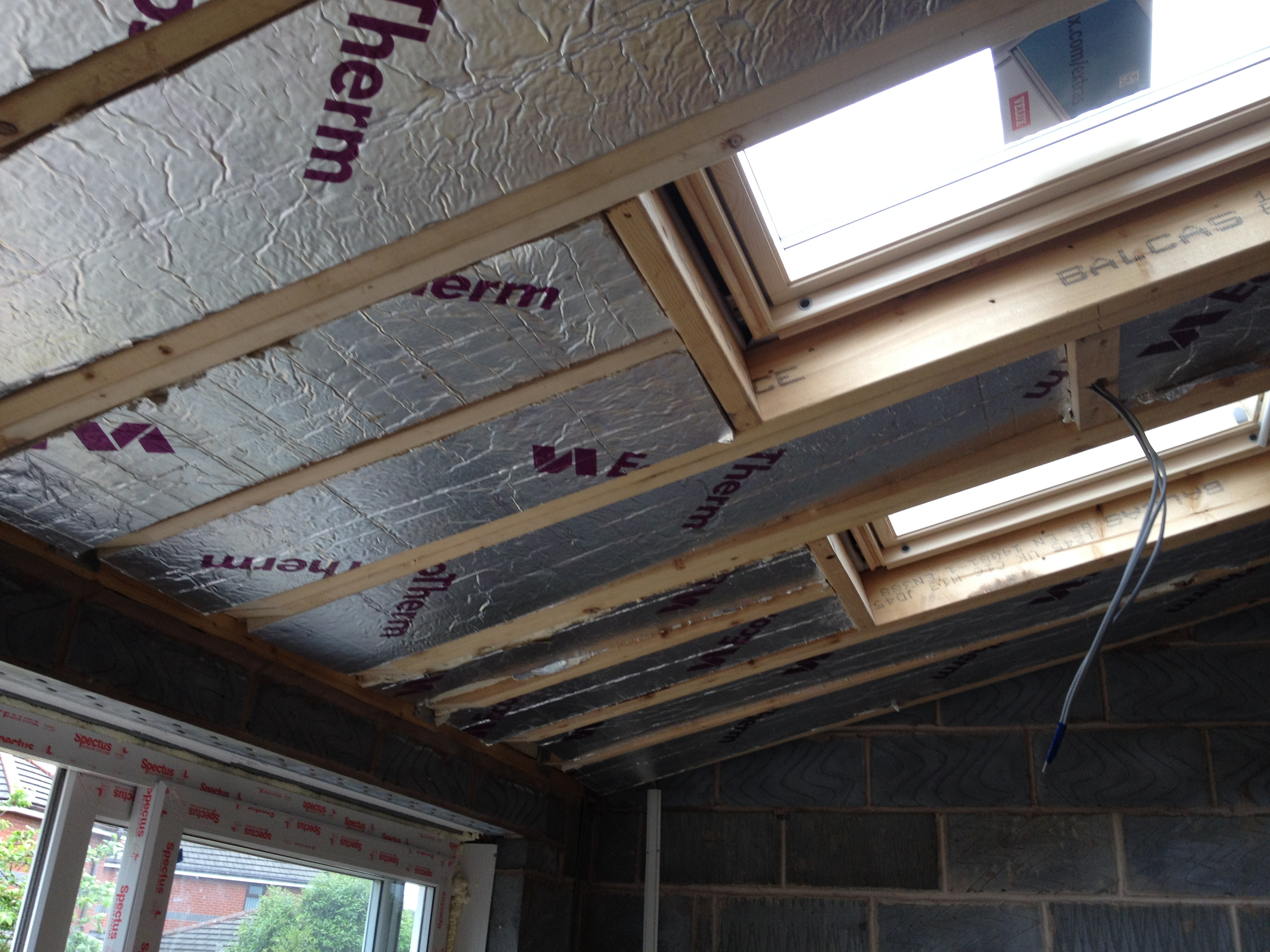 Insulation to Vaulted Ceiling