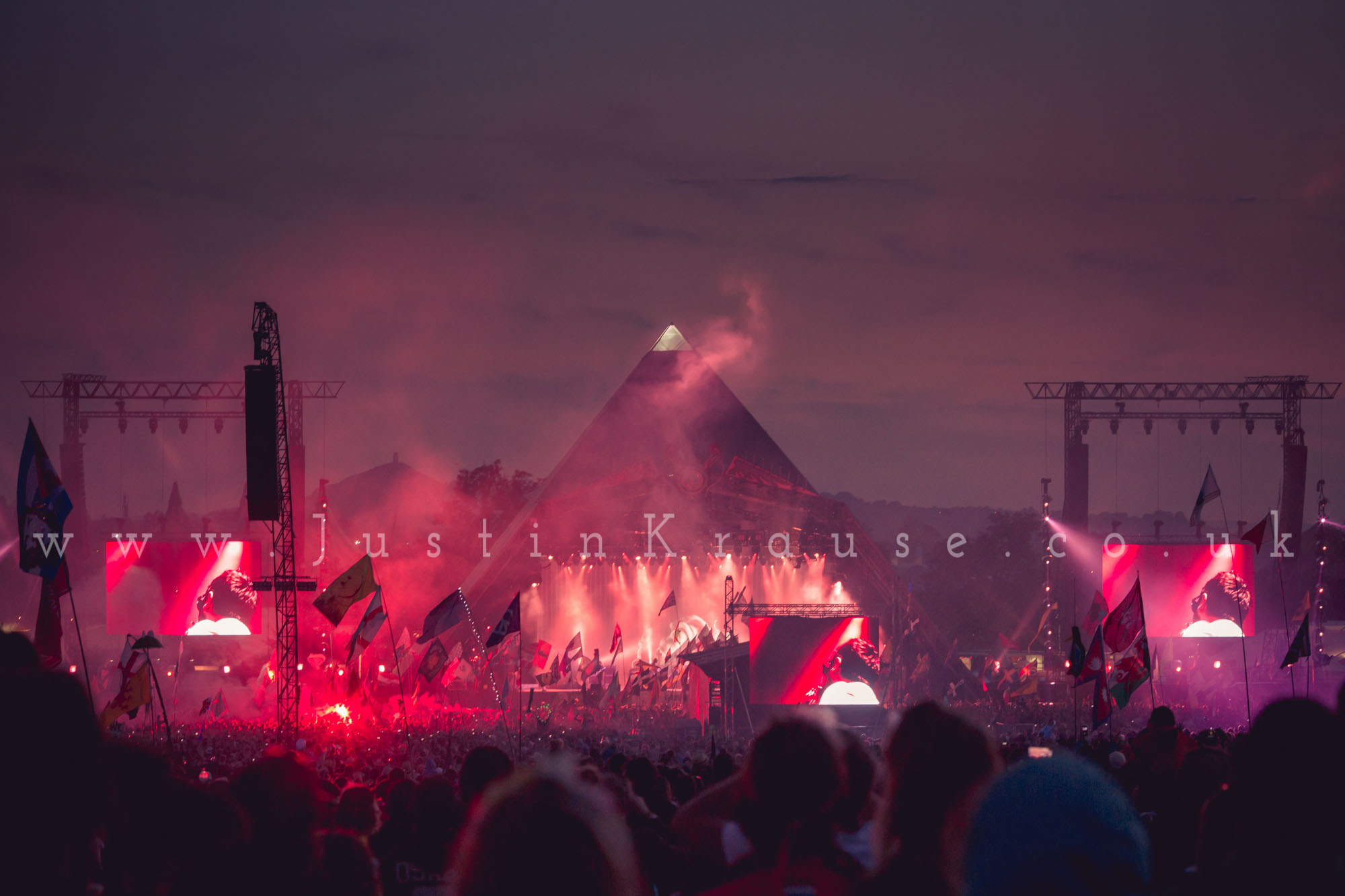 Kasabian closing The Pyramid Stage, Glastonbury Festival 2014