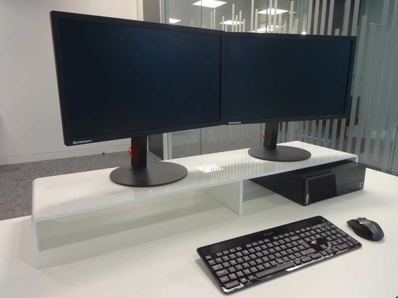 Dual Screen Monitor Riser Stand