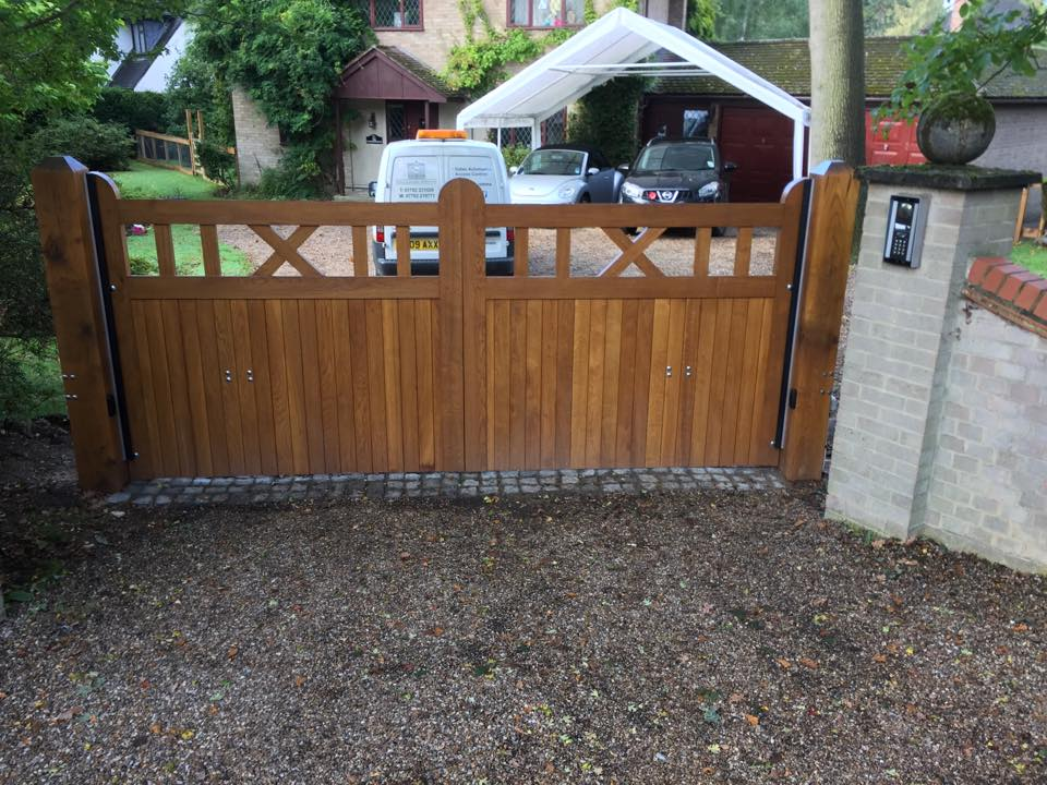 Gibidi automatic gates with videx intercom and force tested